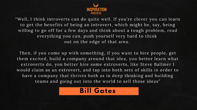Bill Gates on Introverts