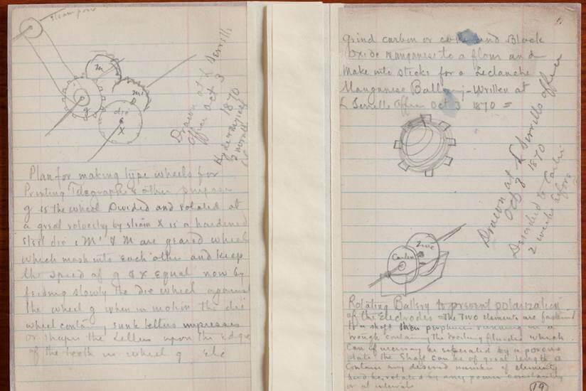 Thomas Alva Edison personal diary and journal