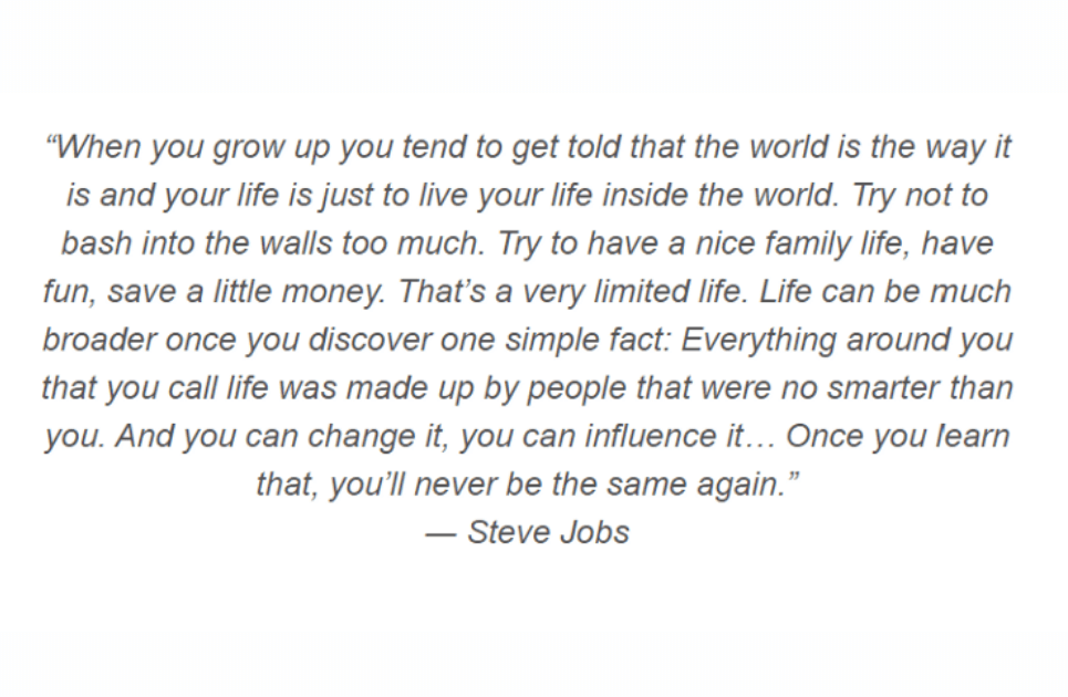 steve Jobs quotes on purpose of life